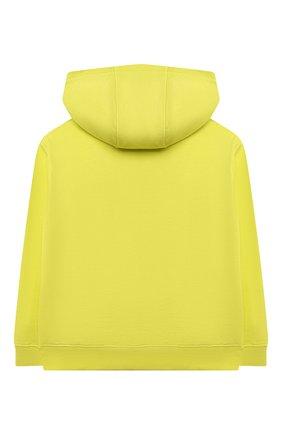 Детский хлопковое худи MARC JACOBS (THE) желтого цвета, арт. W25482 | Фото 2