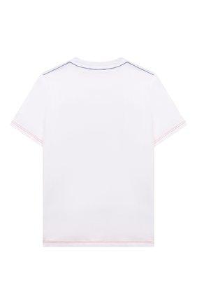 Детская хлопковая футболка MARC JACOBS (THE) белого цвета, арт. W25470   Фото 2