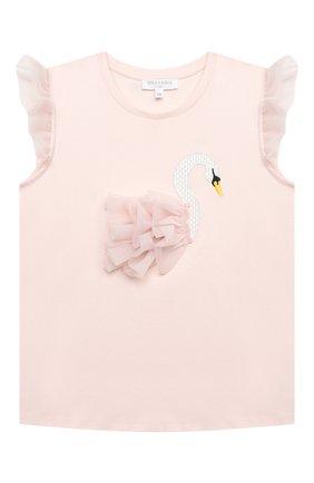Детский хлопковый топ CHARABIA розового цвета, арт. S15031   Фото 1