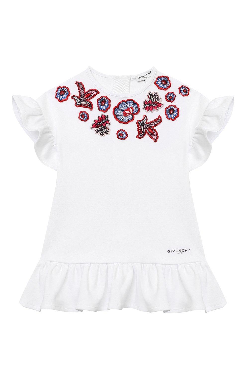Женский хлопковое платье GIVENCHY белого цвета, арт. H02073 | Фото 1