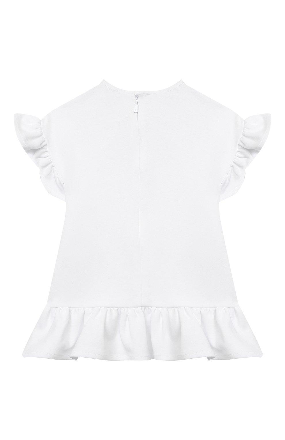 Женский хлопковое платье GIVENCHY белого цвета, арт. H02073 | Фото 2