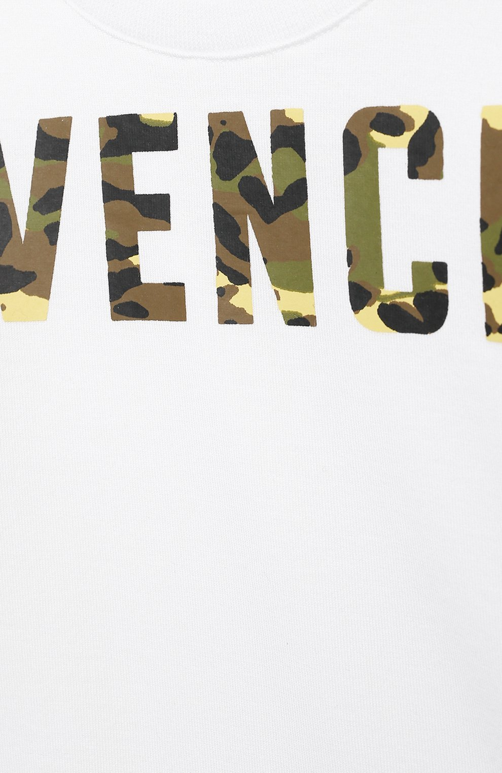 Детский хлопковая футболка GIVENCHY белого цвета, арт. H05163   Фото 3