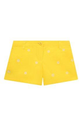 Детские джинсовые шорты POLO RALPH LAUREN желтого цвета, арт. 311835984 | Фото 1