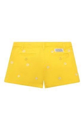 Детские джинсовые шорты POLO RALPH LAUREN желтого цвета, арт. 311835984 | Фото 2