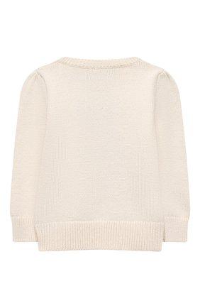 Детский хлопковый пуловер POLO RALPH LAUREN бежевого цвета, арт. 311834981 | Фото 2