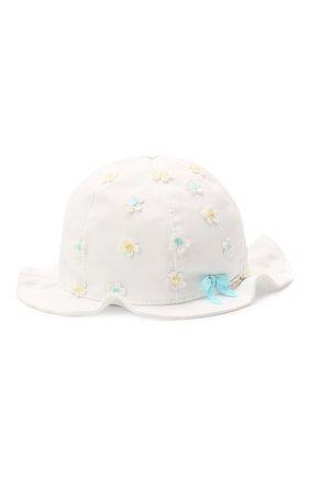 Детская хлопковая шляпа IL TRENINO белого цвета, арт. 21 5121 | Фото 1
