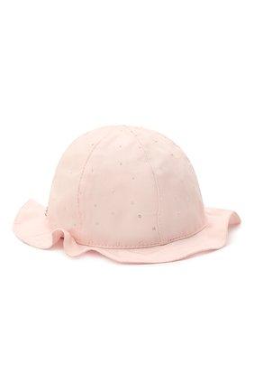 Детская хлопковая шляпа IL TRENINO светло-розового цвета, арт. 21 5120 | Фото 2