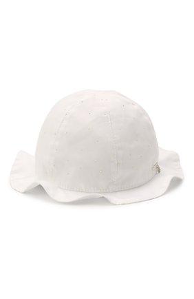 Детская хлопковая шляпа IL TRENINO белого цвета, арт. 21 5120 | Фото 1
