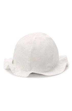 Детская хлопковая шляпа IL TRENINO белого цвета, арт. 21 5120 | Фото 2