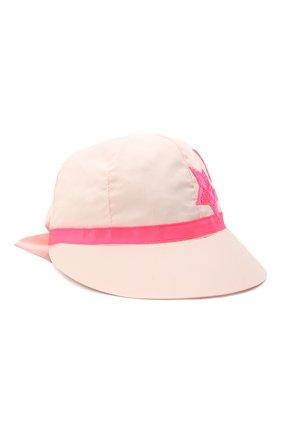 Детская хлопковая кепка IL TRENINO светло-розового цвета, арт. 21 5118 | Фото 1