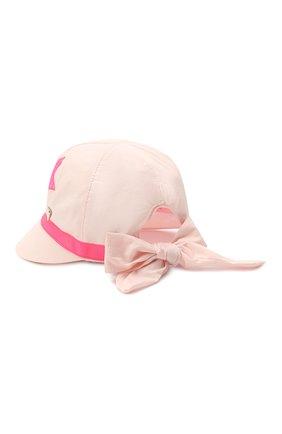 Детская хлопковая кепка IL TRENINO светло-розового цвета, арт. 21 5118 | Фото 2