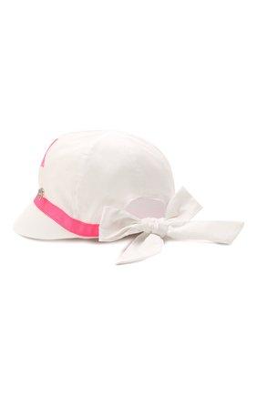 Детская хлопковая кепка IL TRENINO белого цвета, арт. 21 5118 | Фото 2