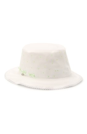 Детская хлопковая шляпа IL TRENINO белого цвета, арт. 21 5112 | Фото 1