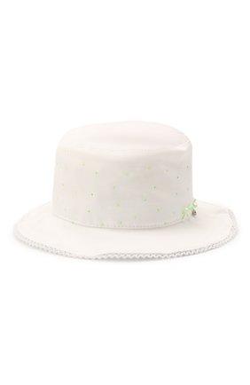 Детская хлопковая шляпа IL TRENINO белого цвета, арт. 21 5112 | Фото 2