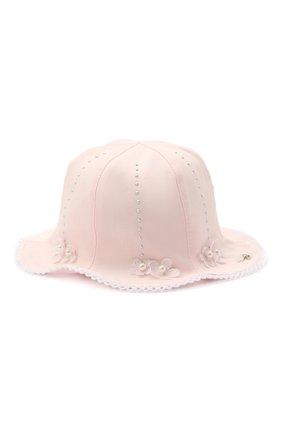 Детская хлопковая шляпа IL TRENINO светло-розового цвета, арт. 21 5110 | Фото 1
