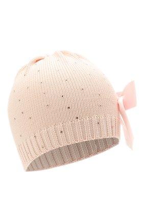 Детского хлопковая шапка IL TRENINO розового цвета, арт. 21 5079/18 | Фото 1