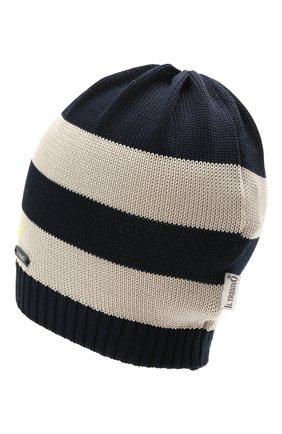 Детского хлопковая шапка IL TRENINO темно-синего цвета, арт. 21 5064 | Фото 2