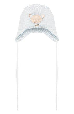 Детского хлопковая шапка IL TRENINO голубого цвета, арт. 21 5027 | Фото 1