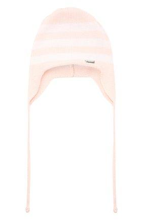 Детского хлопковая шапка IL TRENINO розового цвета, арт. 21 5021 | Фото 1