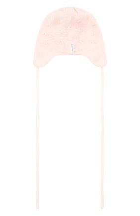Детского хлопковая шапка IL TRENINO светло-розового цвета, арт. 21 5014 | Фото 2
