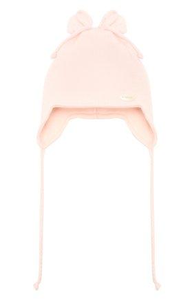 Детского хлопковая шапка IL TRENINO светло-розового цвета, арт. 21 5004 | Фото 1