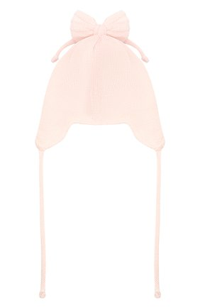 Детского хлопковая шапка IL TRENINO светло-розового цвета, арт. 21 5004 | Фото 2