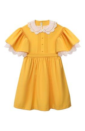 Детское шерстяное платье FENDI желтого цвета, арт. JFB434/AEXR/8A-12+ | Фото 1