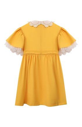 Детское шерстяное платье FENDI желтого цвета, арт. JFB434/AEXR/8A-12+ | Фото 2