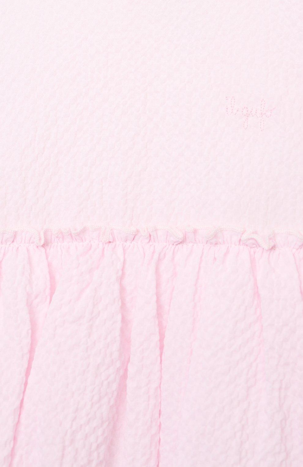 Женский хлопковое платье IL GUFO розового цвета, арт. P21VM627C0053/24M | Фото 3