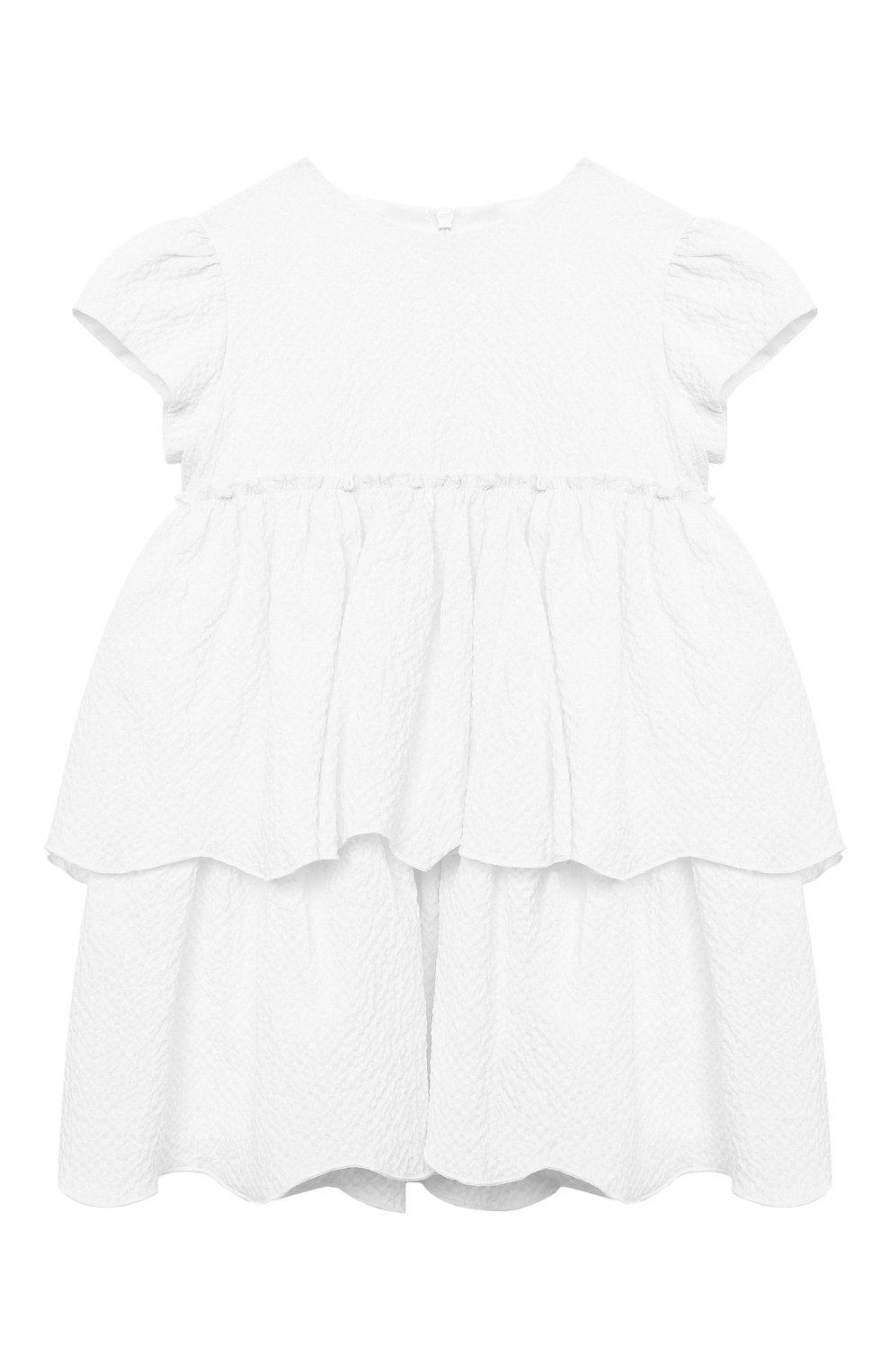 Женский хлопковое платье IL GUFO белого цвета, арт. P21VM627C0053/24M | Фото 1