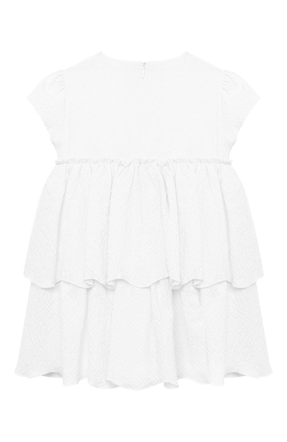 Женский хлопковое платье IL GUFO белого цвета, арт. P21VM627C0053/24M | Фото 2