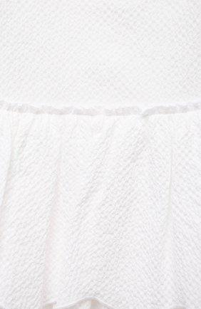 Женский хлопковое платье IL GUFO белого цвета, арт. P21VM627C0053/24M | Фото 3