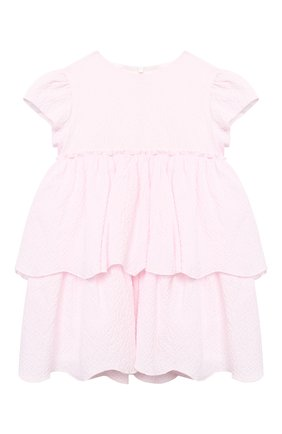 Женский хлопковое платье IL GUFO розового цвета, арт. P21VM627C0053/12M-18M | Фото 1