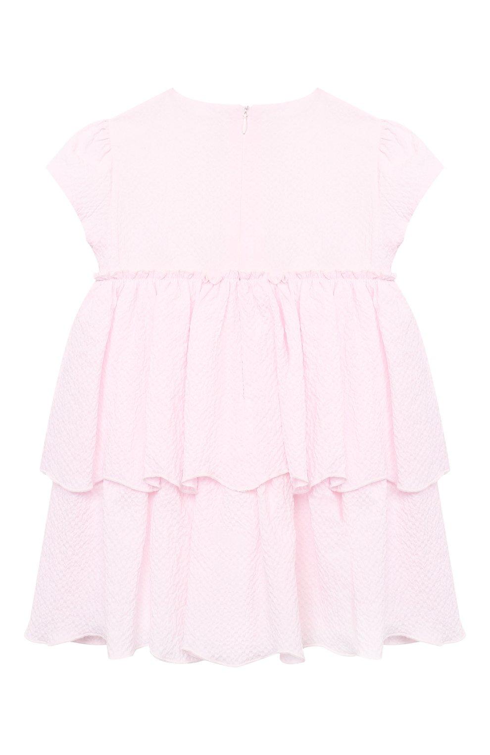 Женский хлопковое платье IL GUFO розового цвета, арт. P21VM627C0053/12M-18M | Фото 2