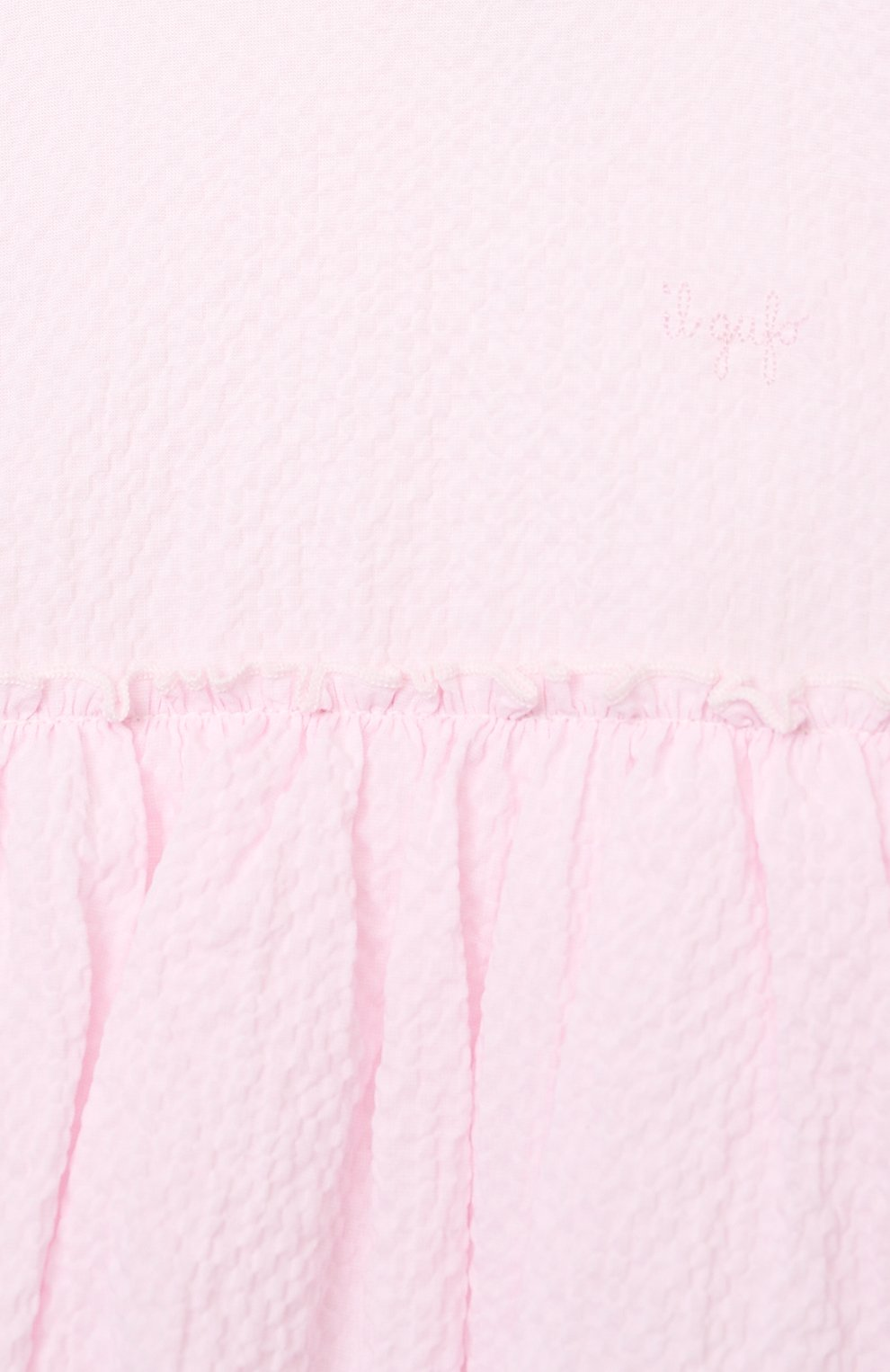 Женский хлопковое платье IL GUFO розового цвета, арт. P21VM627C0053/12M-18M | Фото 3