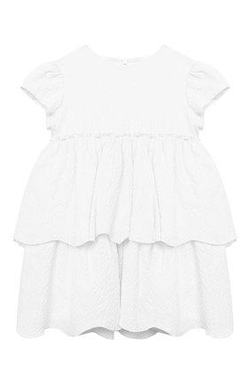 Женский хлопковое платье IL GUFO белого цвета, арт. P21VM627C0053/12M-18M | Фото 1