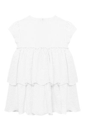 Женский хлопковое платье IL GUFO белого цвета, арт. P21VM627C0053/12M-18M | Фото 2
