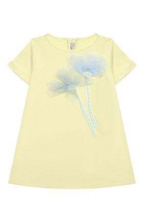 Женский хлопковое платье IL GUFO желтого цвета, арт. P21VM612M0014/3M-9M | Фото 1