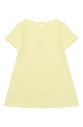 Женский хлопковое платье IL GUFO желтого цвета, арт. P21VM612M0014/3M-9M | Фото 2