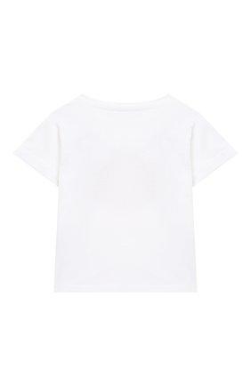 Детский хлопковая футболка IL GUFO белого цвета, арт. P21TS292M0014/3M-9M | Фото 2