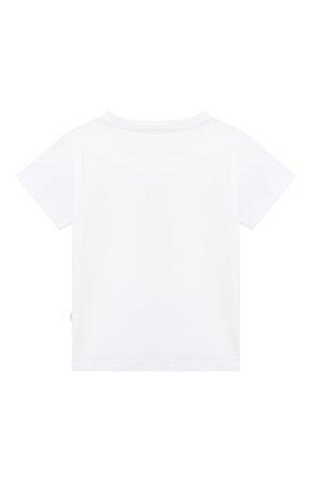 Детский хлопковая футболка IL GUFO белого цвета, арт. P21TS291M0014/24M | Фото 2