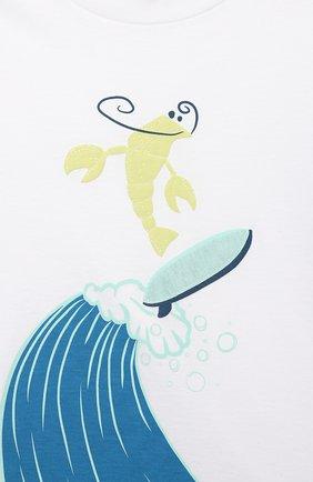 Детский хлопковая футболка IL GUFO белого цвета, арт. P21TS291M0014/12M-18M | Фото 3 (Рукава: Короткие; Материал внешний: Хлопок; Ростовка одежда: 6 мес | 68 см, 12 мес | 80 см)