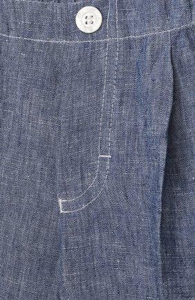 Детские льняные шорты IL GUFO синего цвета, арт. P21PB019L1012/24M | Фото 3