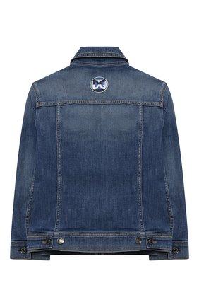 Детского джинсовая куртка DOLCE & GABBANA синего цвета, арт. L41B95/LD915/2-6 | Фото 2