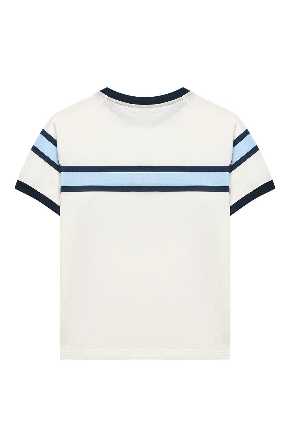 Детский хлопковая футболка DOLCE & GABBANA белого цвета, арт. L1JT8X/G7WRV | Фото 2