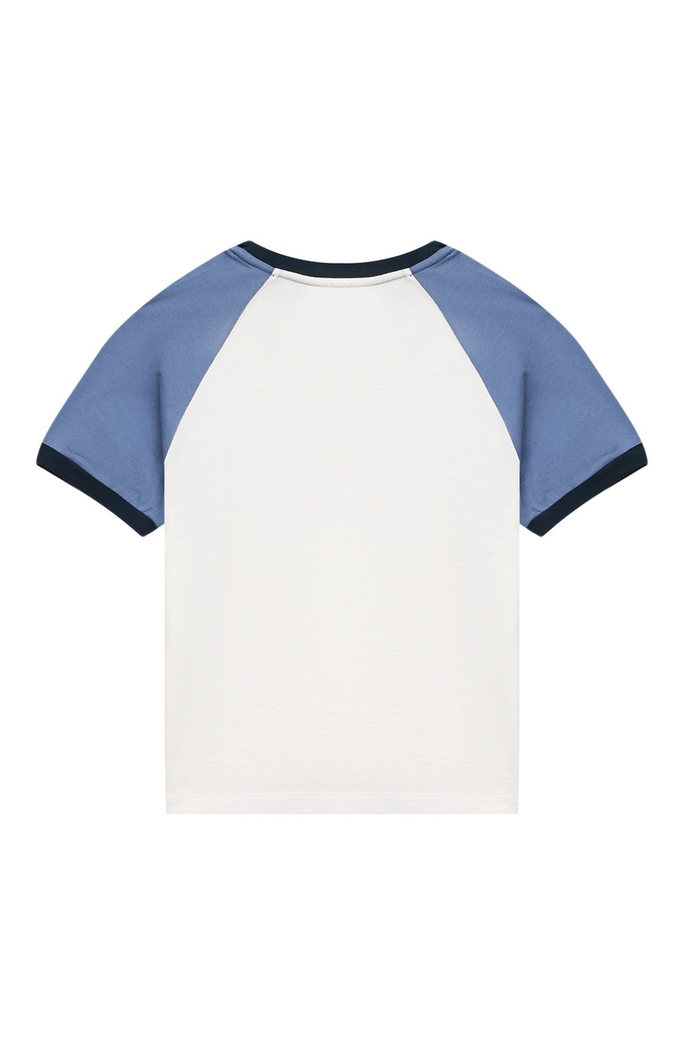 Детский хлопковая футболка DOLCE & GABBANA белого цвета, арт. L1JT8X/G7WRT   Фото 2