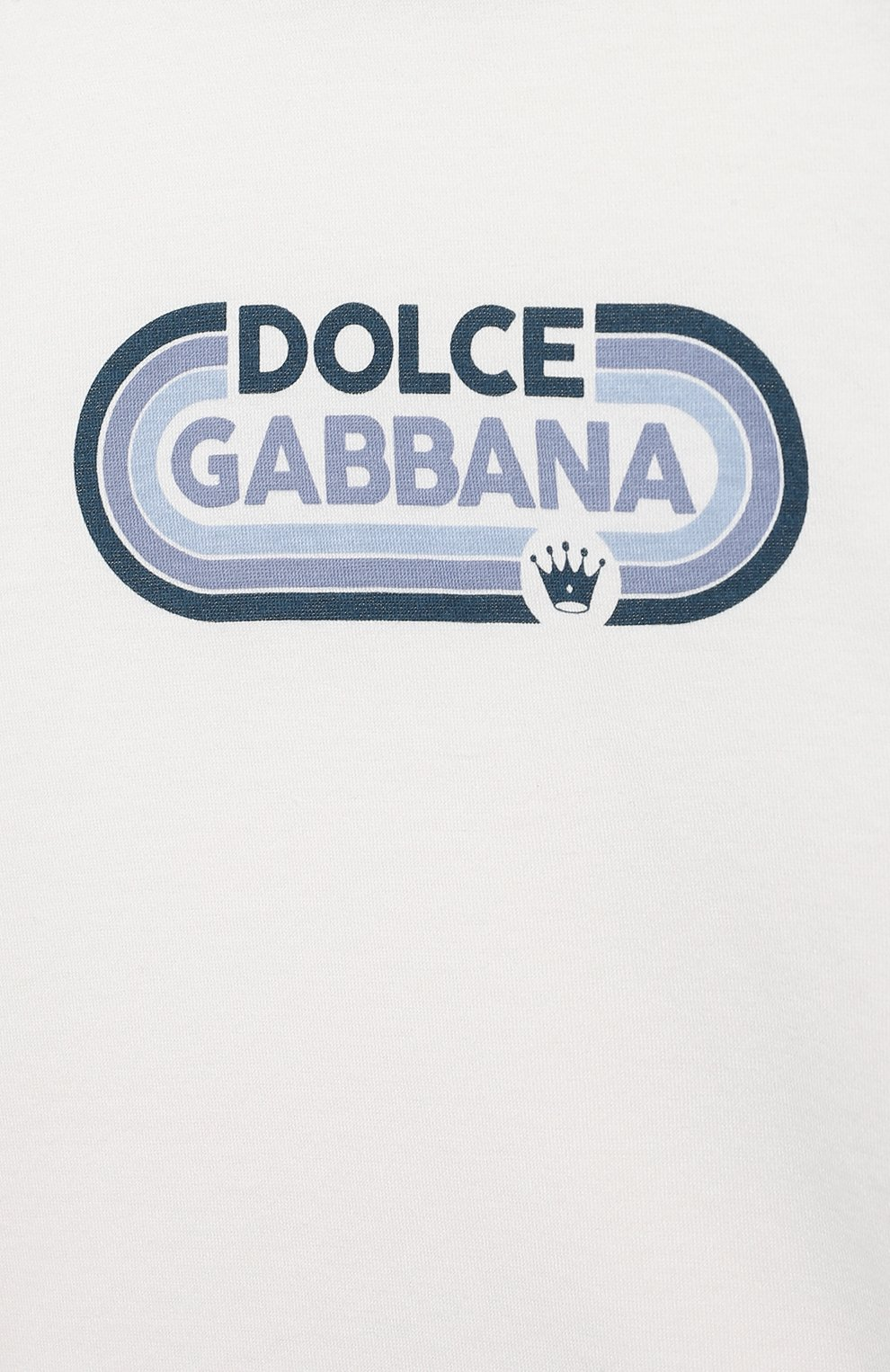 Детский хлопковая футболка DOLCE & GABBANA белого цвета, арт. L1JT8X/G7WRT   Фото 3