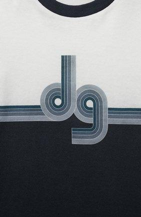 Детское хлопковый комбинезон DOLCE & GABBANA синего цвета, арт. L1J02G/G7WRS | Фото 3