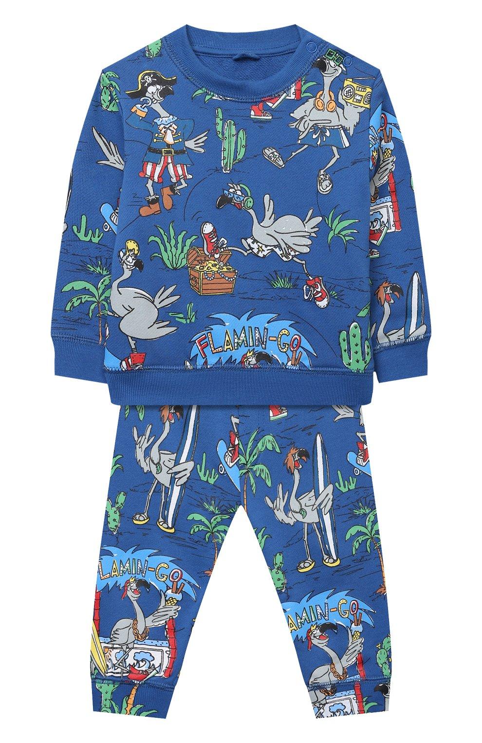 Детский комплект из свитшота и брюк STELLA MCCARTNEY синего цвета, арт. 602848/SQJ66 | Фото 1