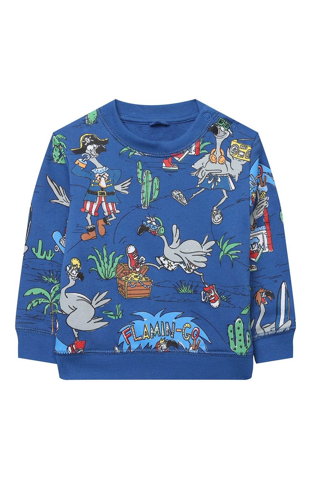 Детский комплект из свитшота и брюк STELLA MCCARTNEY синего цвета, арт. 602848/SQJ66 | Фото 2